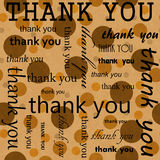 Thank You Design with Orange Polka Dot Tile Pattern Repeat Backg Stock Photography
