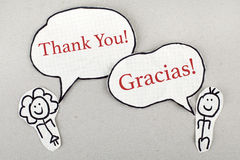 Thank You in Different Languages Royalty Free Stock Photography