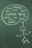 Thank You in different languages Stock Images