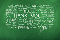 Thank You in different languages. Thank you speech bubble, thank you in lots of different languages Royalty Free Stock Photography