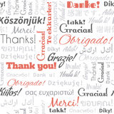 Thank you in different languages words, tags. Royalty Free Stock Photography