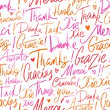 Pattern of Thank you in different languages vector illustration