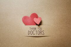 Thank You Doctors message with small hearts
