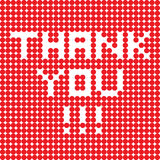 Thank you dots Stock Photo