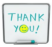 Thank You on Dry Erase Board royalty free illustration