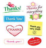 Thank you elements. A variety of different thank you ornament elements isolated over white background Royalty Free Stock Photo