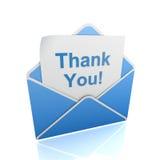 Thank you envelope Royalty Free Stock Photos
