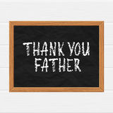 Thank you father Royalty Free Stock Photography