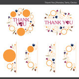 Thank you floral templates. Illustration of a thank you floral template with pansy flowers on a white background Royalty Free Stock Photo