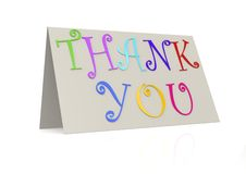 Thank you with folded paper Royalty Free Stock Photo