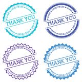 Thank you 25000 followers badge isolated on white. Stock Image