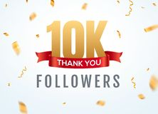 Thank you 10000 followers design template social network number anniversary. Social 2k users golden number