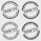 Thank you 10000 followers insignia stamp isolated. Royalty Free Stock Images