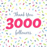 Thank you 3000 followers network post
