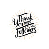 Thank you 1000 followers poster. You can use social networking. Web user celebrates a large number of subscribers or. Thank you 1000 followers poster. Lettering Stock Images