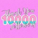 Thank you followers. Vector watercolor illustration eps10 royalty free illustration