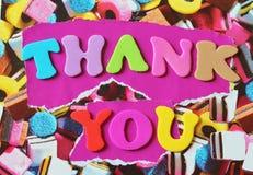 Thank you font Stock Photos