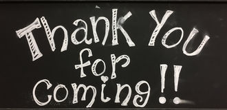 Free Thank You For Coming Sign Royalty Free Stock Photography - 92495887