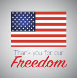 Thank you for freedom. Veterans day. Independens day. Royalty Free Stock Images