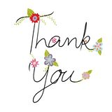 Thank You Freehand Lettering Handmade Calligraphy Vector Stock Images
