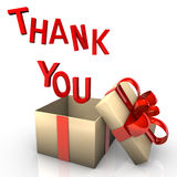 Thank You Gift vector illustration