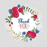 Thank you gift card. Vector illustration Stock Photography