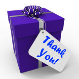 Thank You Gift Means Grateful And Appreciative. Thank You Gift Meaning Grateful And Appreciative Royalty Free Stock Photography