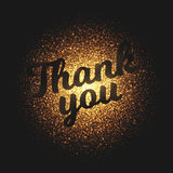 Thank You Glowing Particles Vector Background. Thank You bright shimmer glowing round particles vector background. Scatter shine tinsel light explosion effect Stock Images