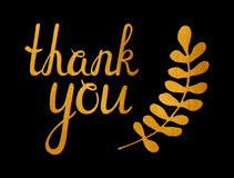Thank you golden inscription Royalty Free Stock Photos