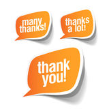 Thank you - grateful bubbles Stock Photos