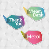 Thank you - grateful bubbles () Stock Images