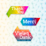 Thank you - grateful bubbles (vector) Stock Photography