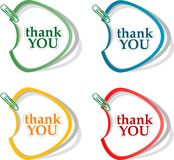 Thank you - grateful bubbles. Vector. Illustration Stock Images