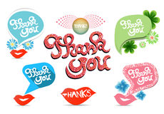 Thank you - grateful bubbles. Vector. Stock Photos