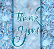 Thank You. Grateful card with lettering Stock Image