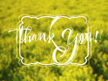 Thank You. Grateful card with lettering Stock Photography
