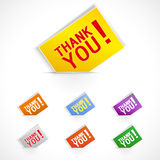 Thank you -  grateful cards for website. Royalty Free Stock Photography