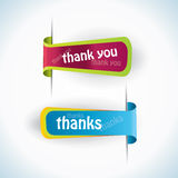 Thank you - grateful labels. Vector Stock Images