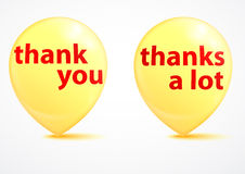 Thank you - grateful yellow bubbles Royalty Free Stock Images