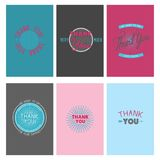 Thank you gratitude feeling emotions text lettering vector card design thanksfull quote phrases message Stock Images
