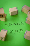 Thank you on Green Royalty Free Stock Images