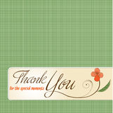 Thank you greeting card Royalty Free Stock Image