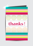 Thank you greeting card. Stock Photos
