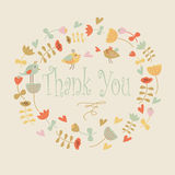 Thank you greeting card Stock Photo