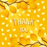 Thank you greeting card Stock Image