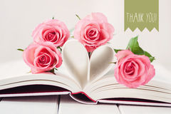 Thank you!. Greeting card saying Thank you Royalty Free Stock Image