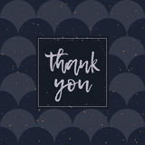 Thank You greeting card, silver lettering vector Royalty Free Stock Images