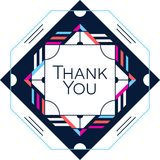 Thank you greeting card thanksgiving design. Abstract geometric