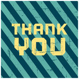Thank You Greeting Card vector illustration