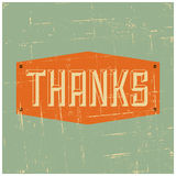 Thank You Greeting Card stock illustration